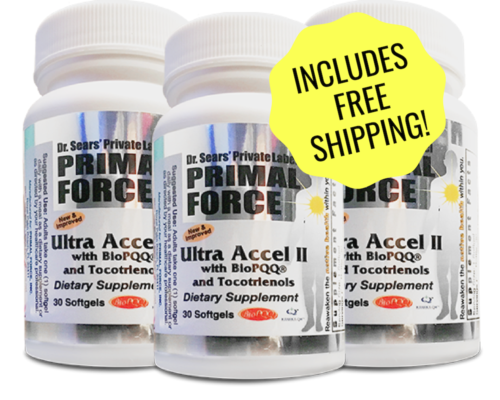 Ultra Accel II Dr. Sears M.D. Primal Force. Bring up the Energy!